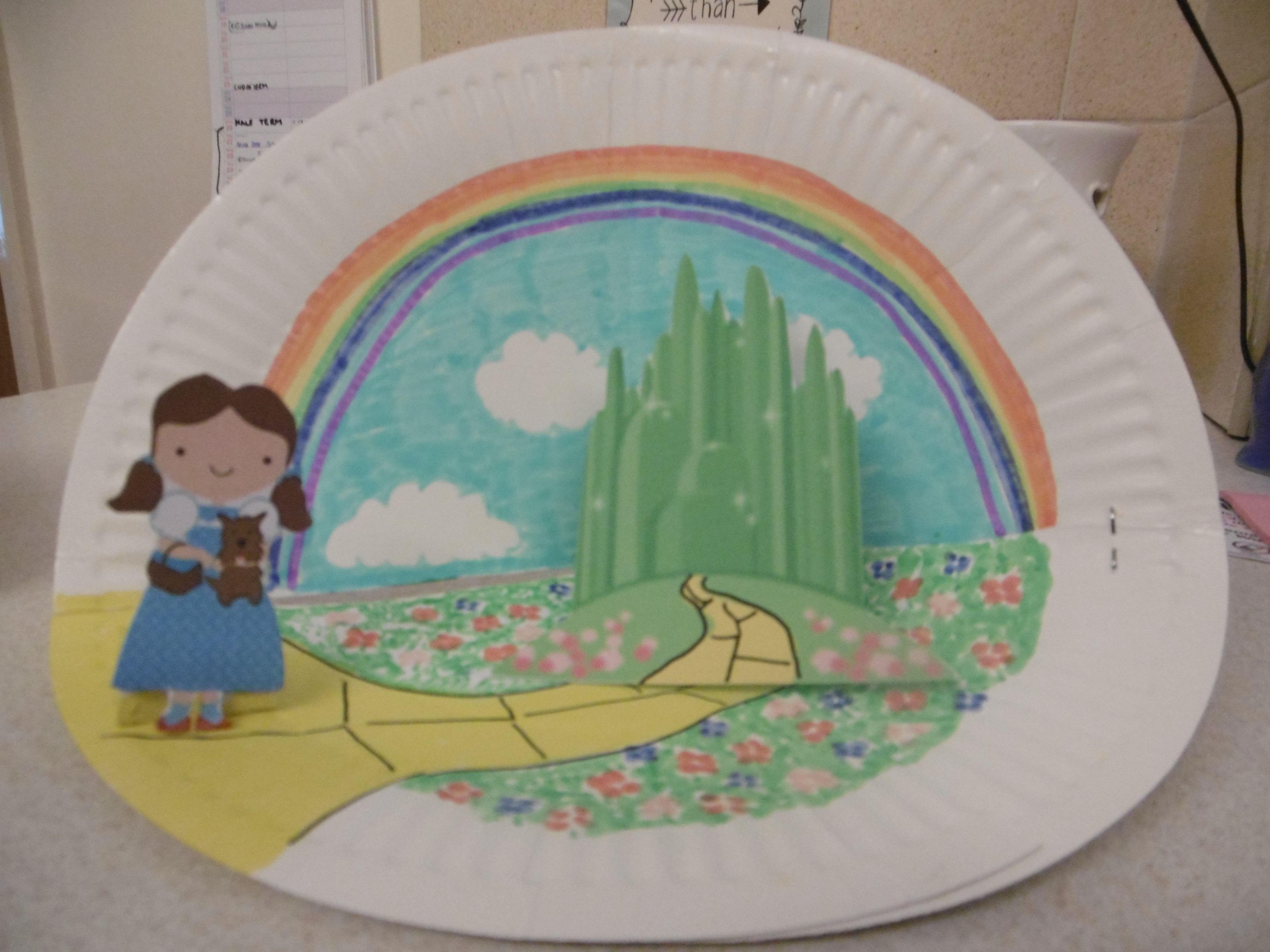 paper plate diorama of scene from a book- Wizard of Oz & paper plate diorama of scene from a book- Wizard of Oz | Children\u0027s ...