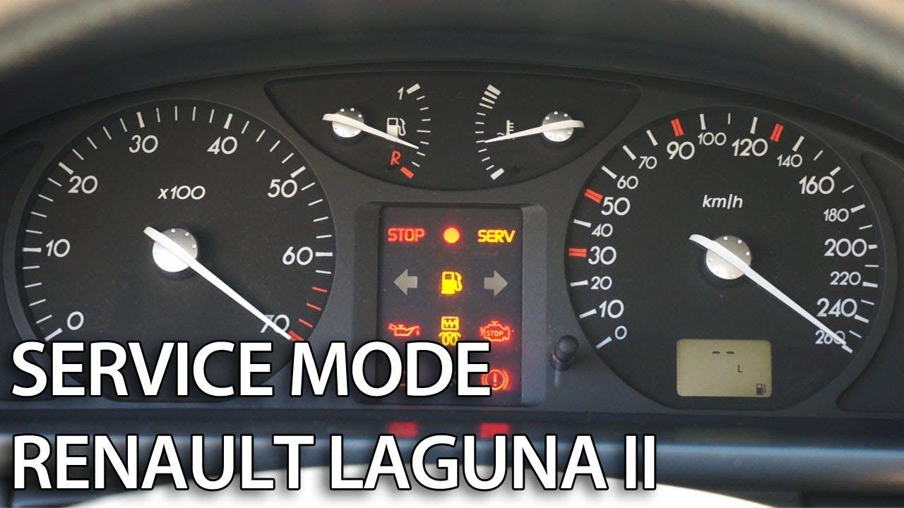 How to enter hidden menu in #Renault #Laguna II (secret service mode