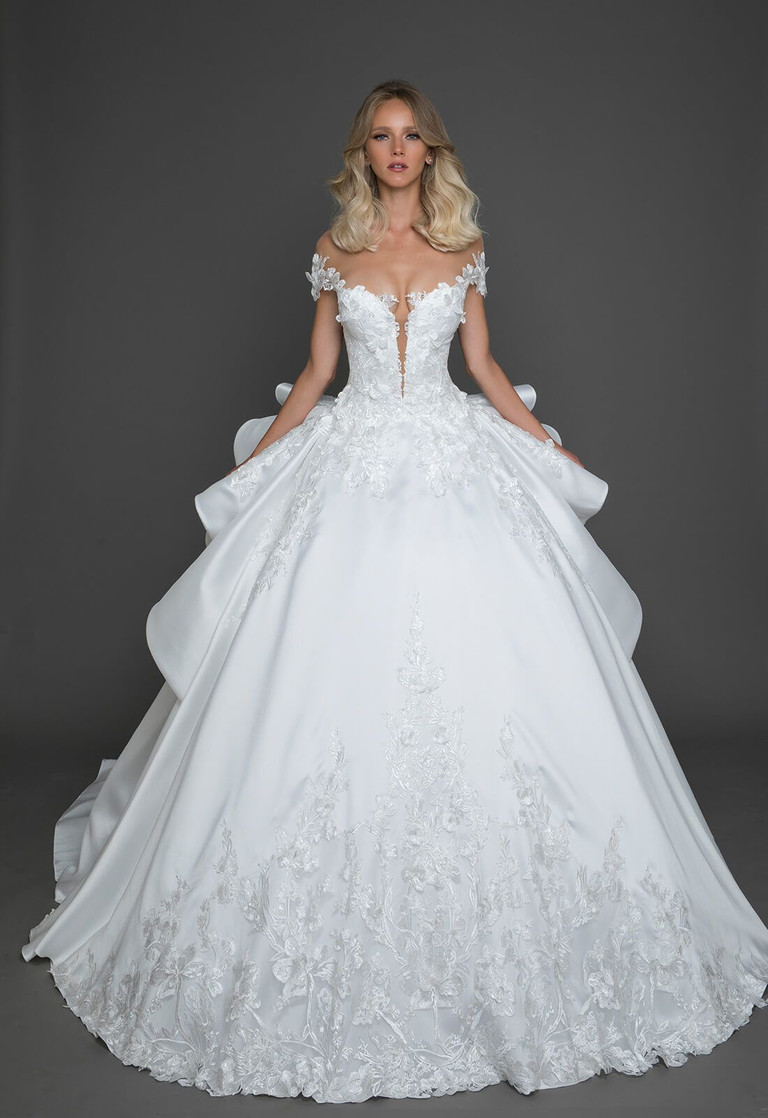 a36f0f8ad4 Ball gown with sheer lace corset bodice