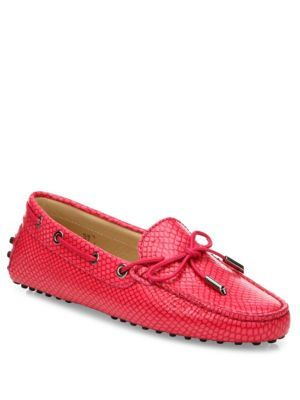 TOD'S Tie Front Leather Driving Moccasins. #tods #shoes #moccasins