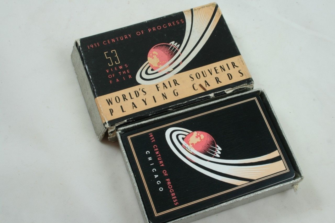 1933 Chicago Century of Progress souvenir playing cards