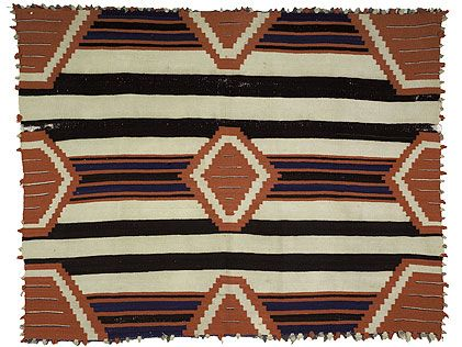 This Navajo Wearing Blanket From The 19th Century Is In A