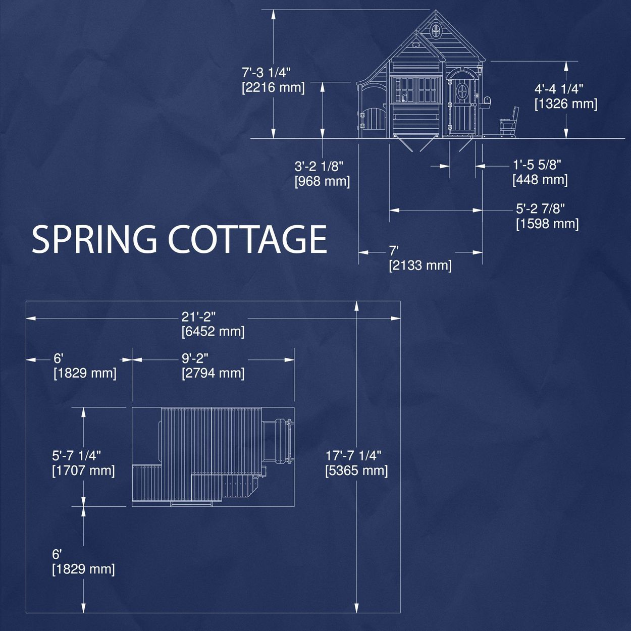 Backyard Discovery Spring Cottage Cedar Playhouse in 2020 ...