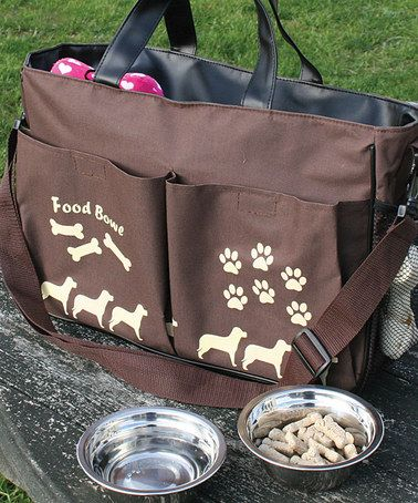 We want this Pet Travel Tote & Bowl Set by Etna Products on sale at #zulily today!