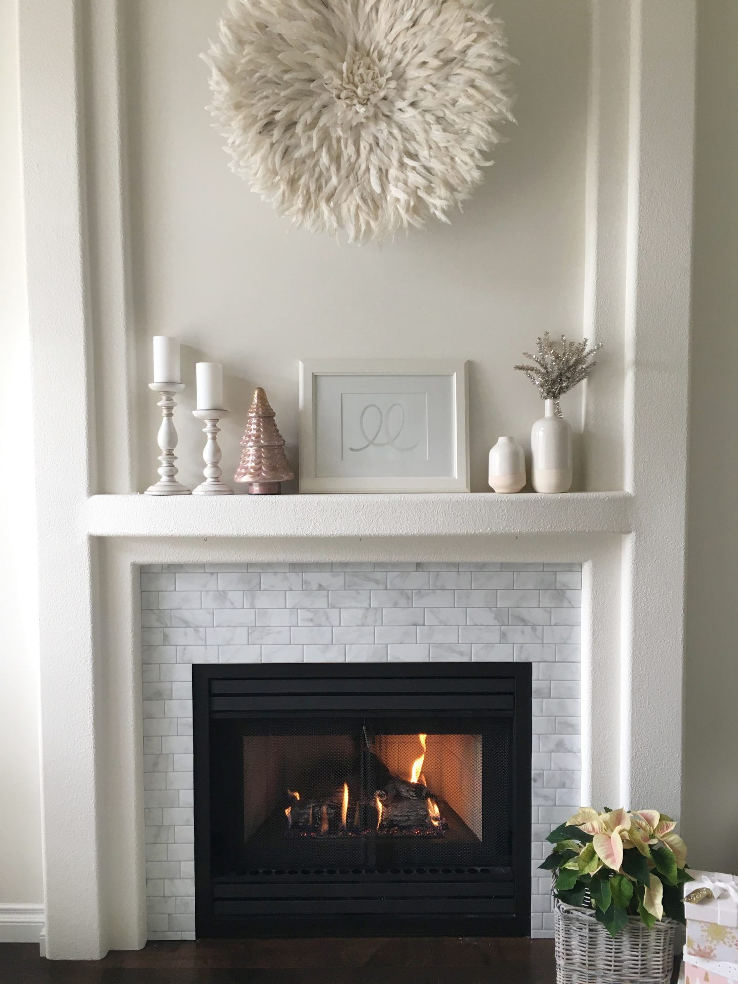 Smart Tiles DIY Fireplace Makeover Home fireplace, Smart