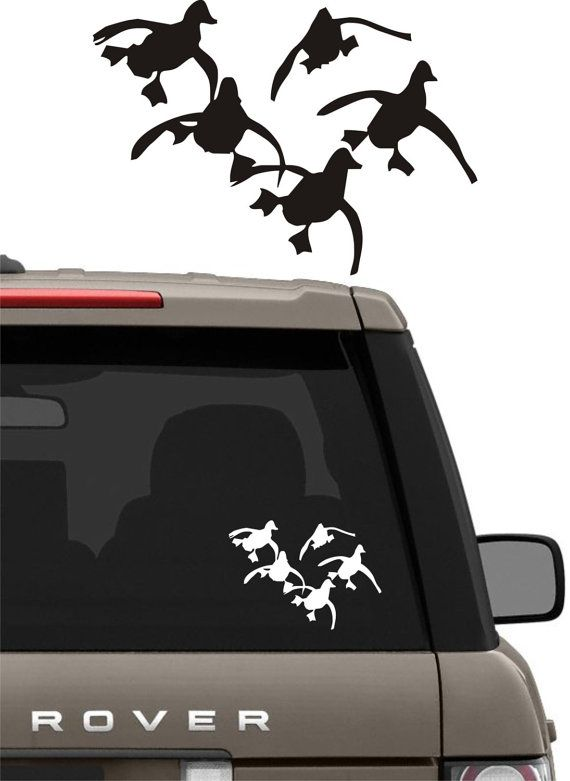 DUCK HUNTING Vinyl Decal Graphic Sticker For Boatcartrucksuv - Rear window hunting decals for trucksvehicle graphics rear window graphics road hunter custom truck