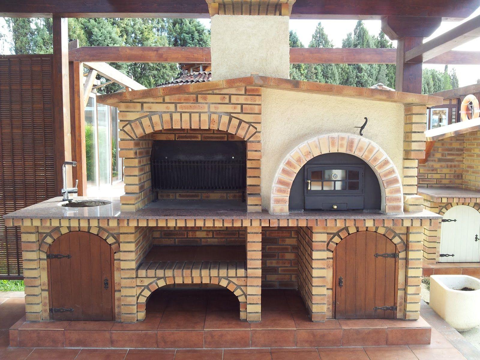 Conjunto horno y barbacoa de la empresa arte y jardineria madrid espa a manualidades y Construccion de barbacoas
