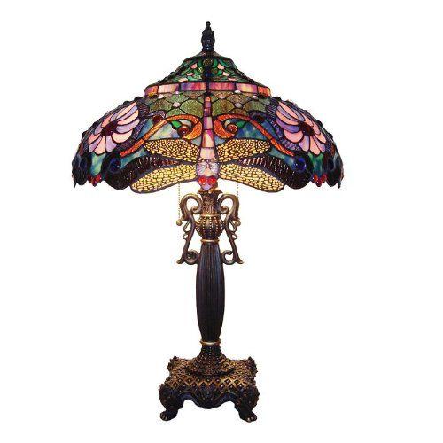 Amazon Com Chloe Lighting Ch19b145tl 2 Light Dragonfly Table Lamp