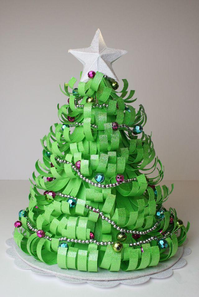 how to make christmas tree shape cone paper