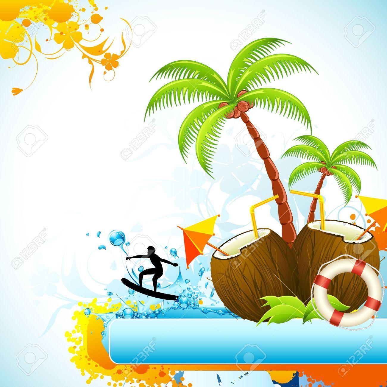 palmeras con cocos dibujadas - Buscar con Google | decoración de ...