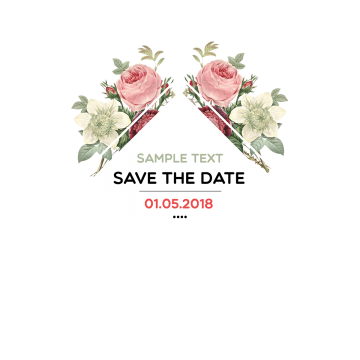 Save The Date Watercolor Flowers Save The Date Watercolor