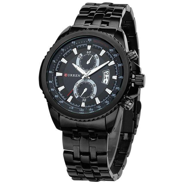 eb183f143a6 Marca de luxo CURREN Original relógios homens moda Casual quartzo relógio  do esporte aço completa analógico