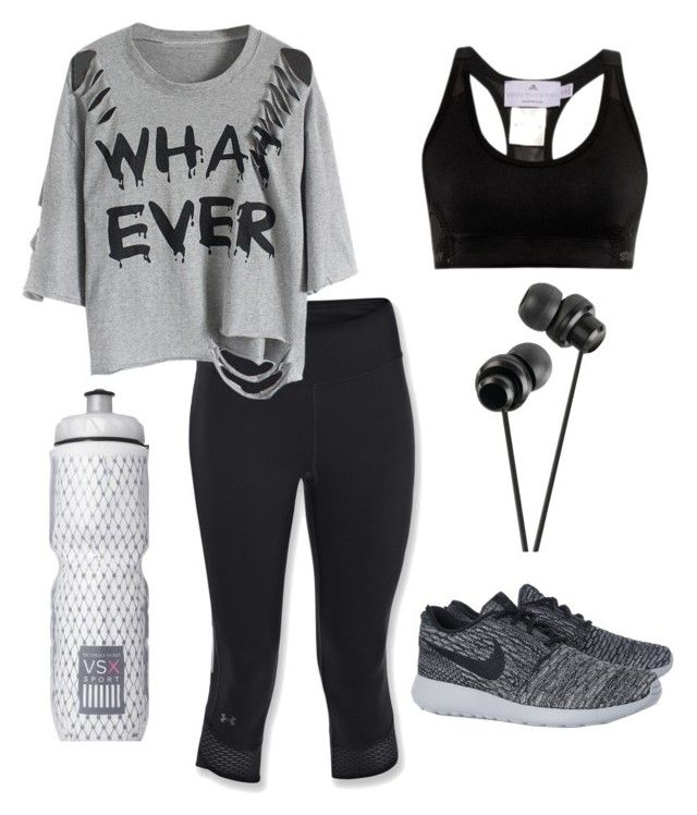 """""""Let's get Fit !"""" by kiaraamonae on Polyvore featuring Under Armour, NIKE, adidas and Victoria's Secret"""