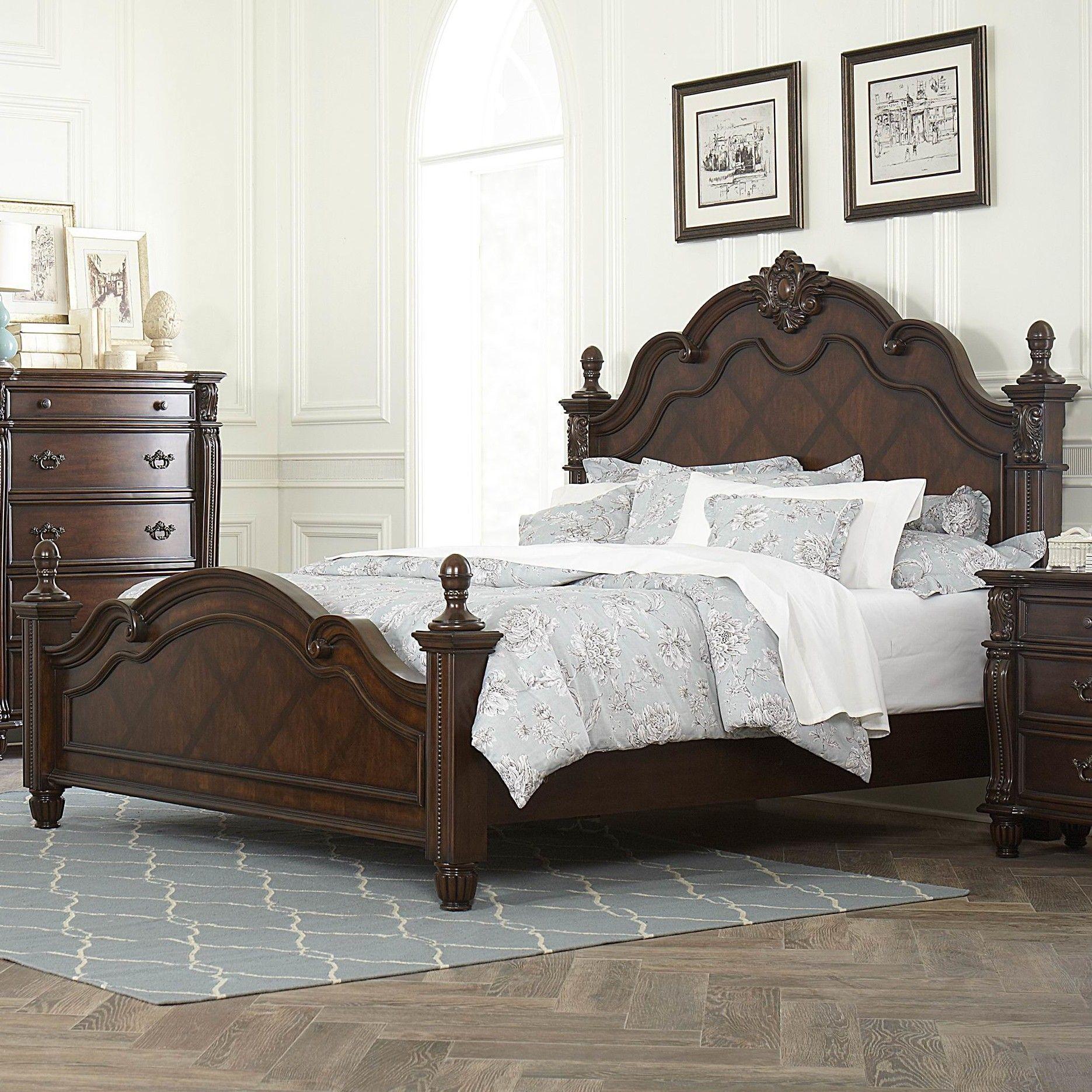 Hadley Row Panel Bed Wood bedroom decor, Cherry bedroom