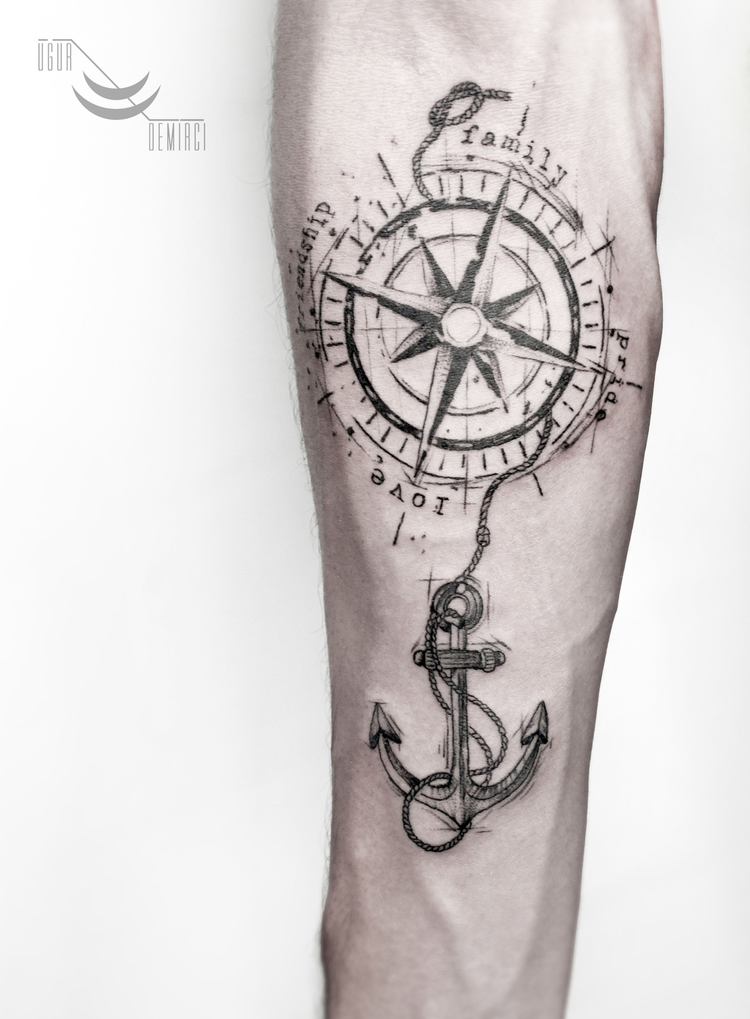 Sketch Compass Tattoo Lacenano Tattoodemirci Customwork Sketch Anchor Drawing Compasstattoo Tattoomaga Compass Tattoos Arm Hook Tattoos Compass Tattoo