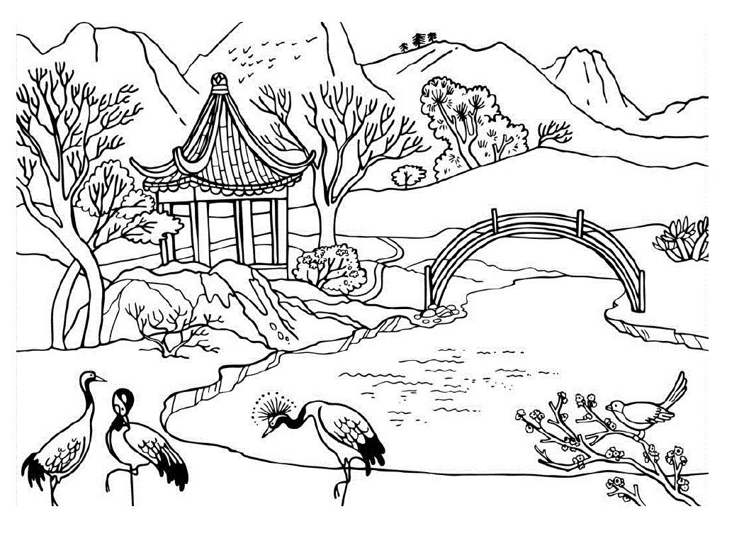 Coloring Pages Nature 1050×766 Art Coloring Pages