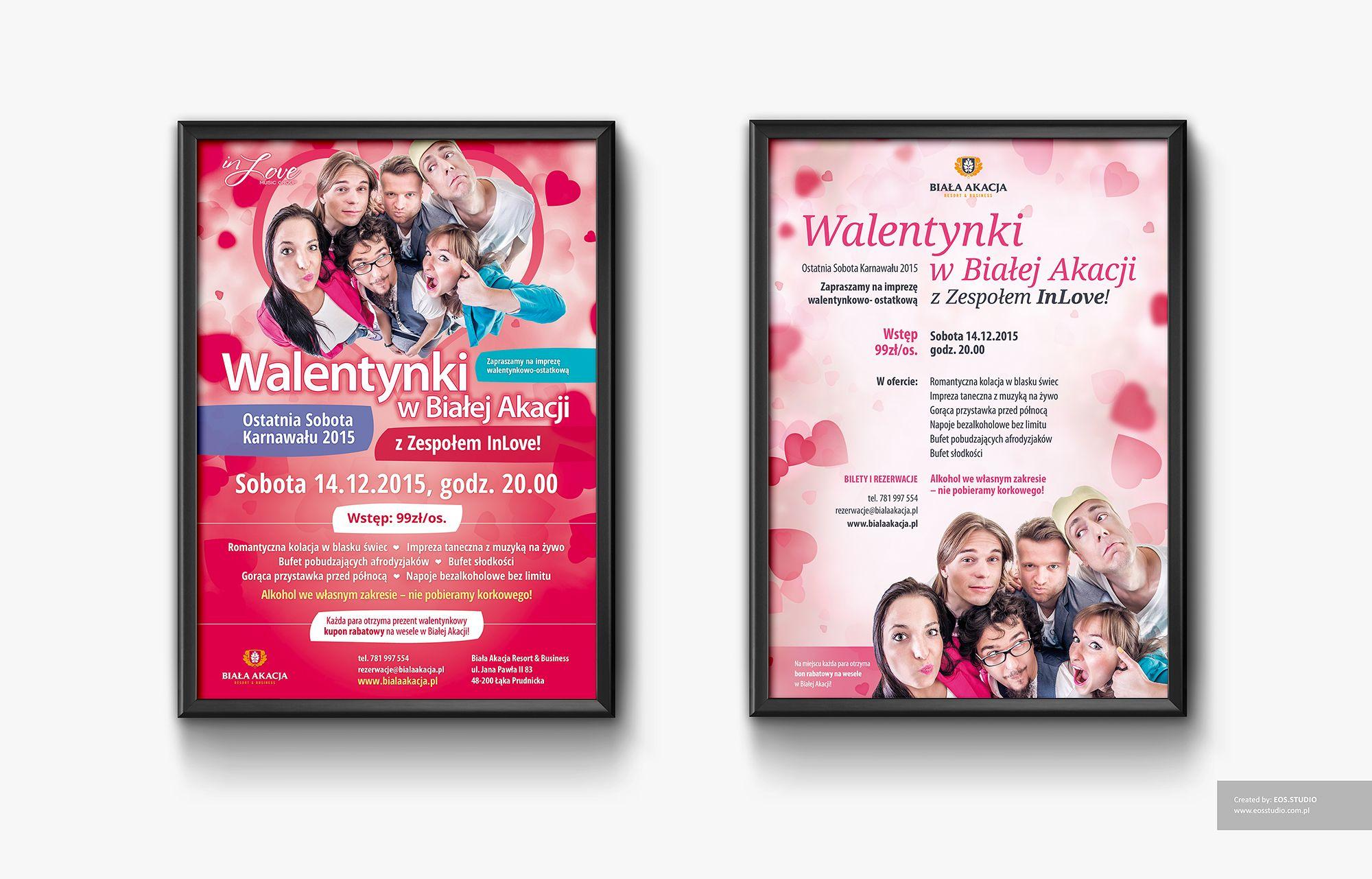 poster layout for Biała Akacja Resort & Business