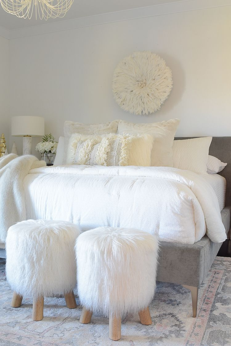 Boho Chic Neutral Christmas Bedroom Tour Boho Chic