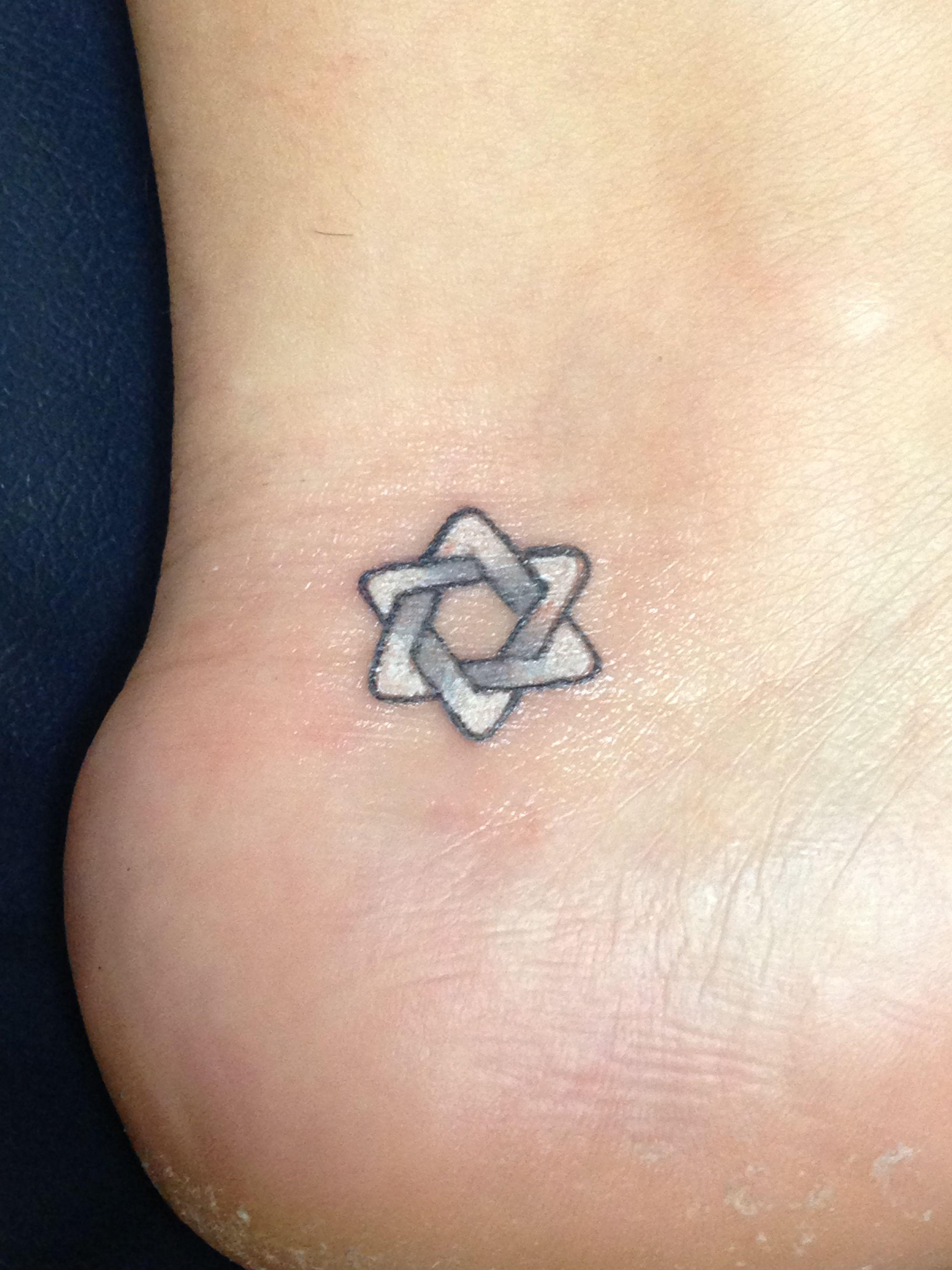 Small Star Of David Tattoo: Star Of David. Family Link Tattoo.