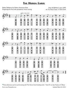 5 hole native american flute sheet music
