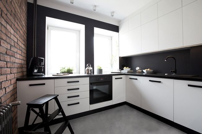 Cuisine moderne avec mur de briques   Goodies, Kitchens and Decoration