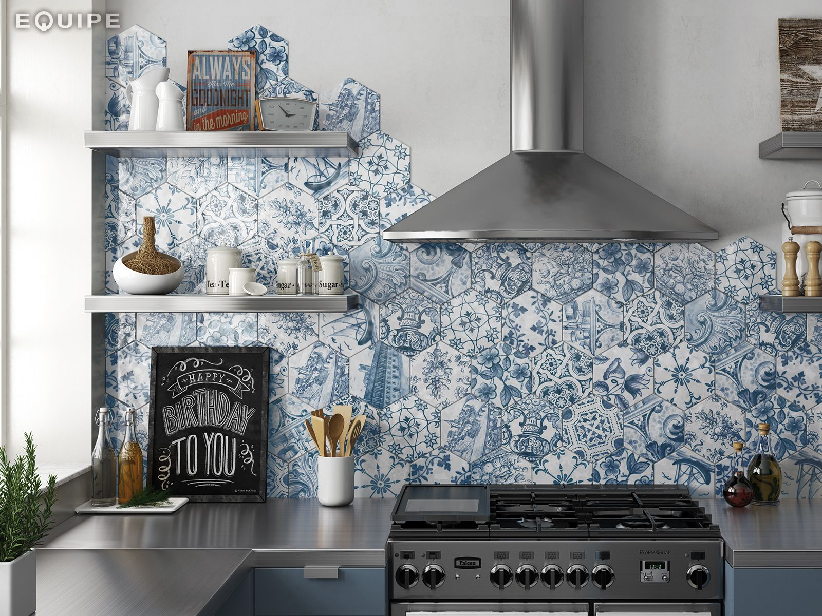 Hexatile Decor Patchwork Lisboa 17,6x20,1 | kitchen | Pinterest ...