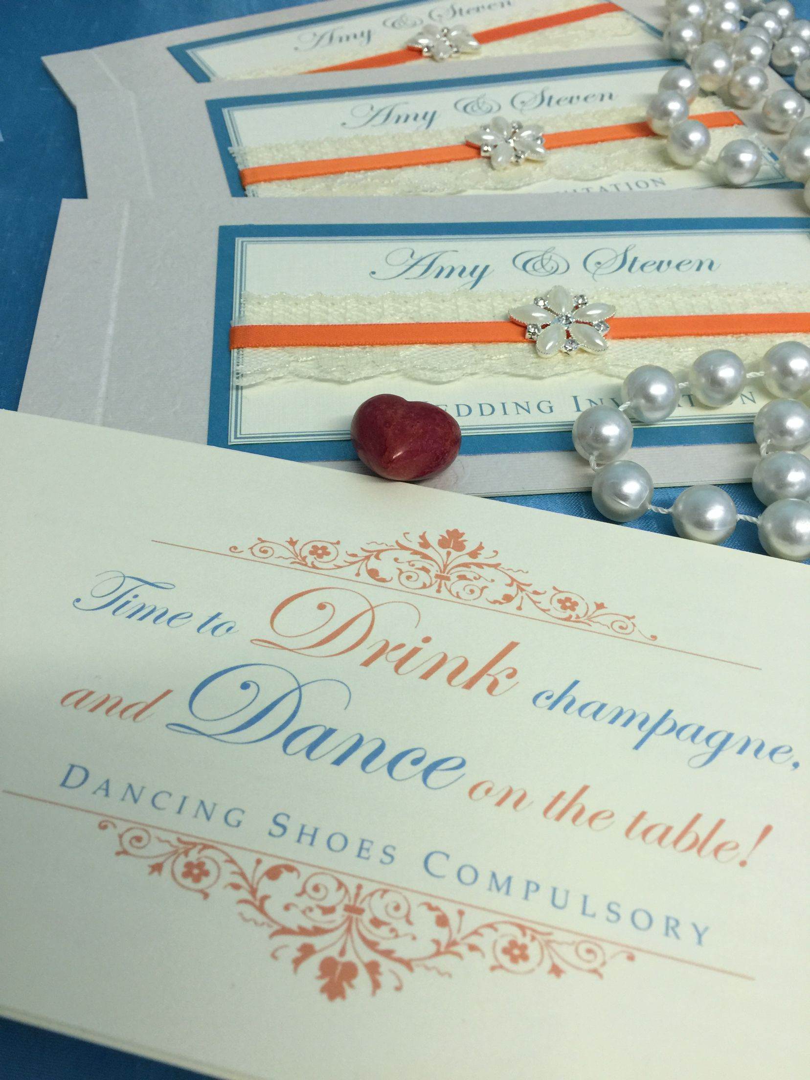 Striking vintage chequebook wedding invitation. Dare to be different ...