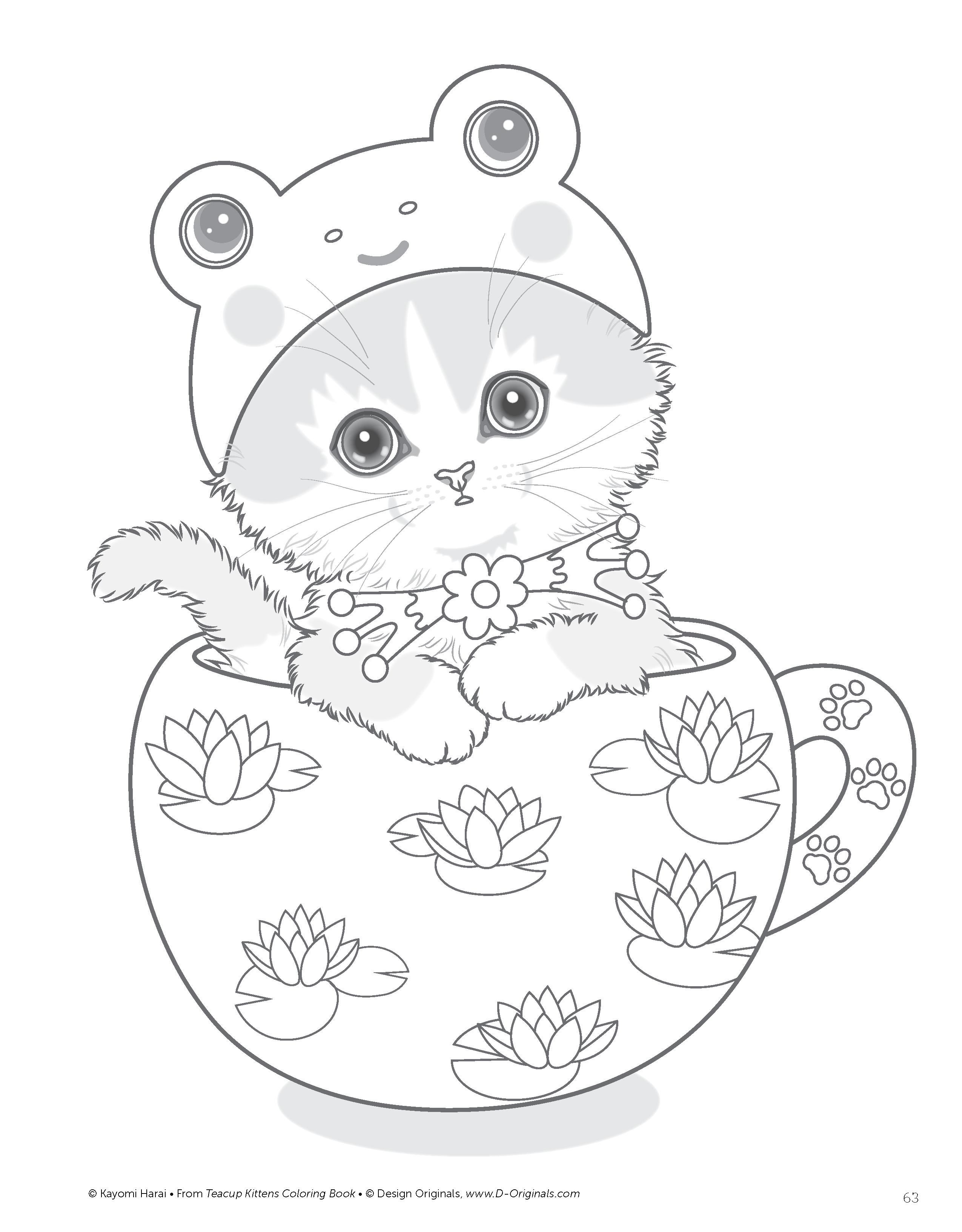Ausmalbilder Nikolaus : Teacup Kittens Coloring Book Design Originals Kayomi Harai