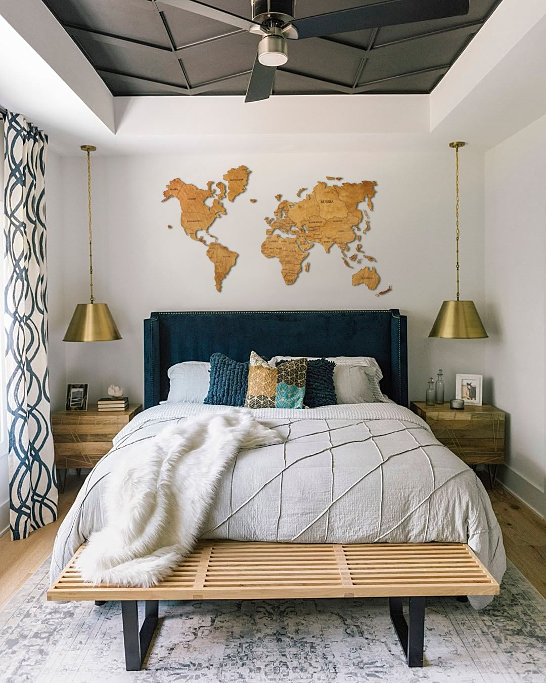 World Map Wall Art Travel Map World Map Push Pin Map Wall Art Wood Wall Art Wooden Map Farmhouse Decor Gift For Her Home Decor Bedroom Home Decor Bedroom Interior