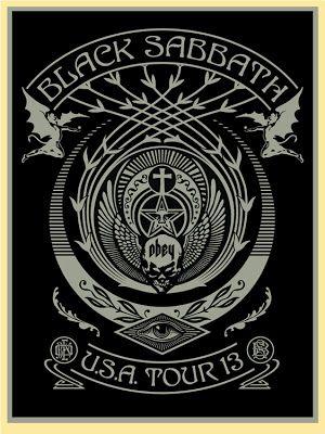 Shepard Fairey Black Sabbath Tour Posters 2013 Release Details