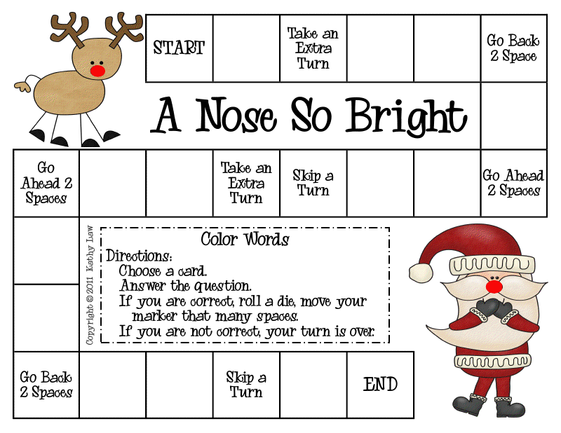 3rd grade christmas activities | We are reviewing color words as we ...