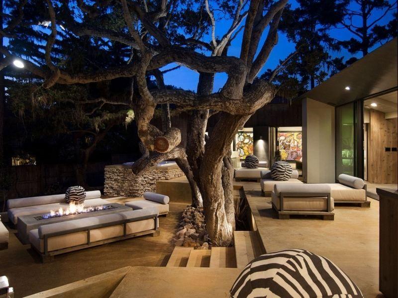 Foyer ext rieur dans le jardin 50 id es remarquables pour vous backyards foyer veranda - Foyer exterieur pour jardin ...