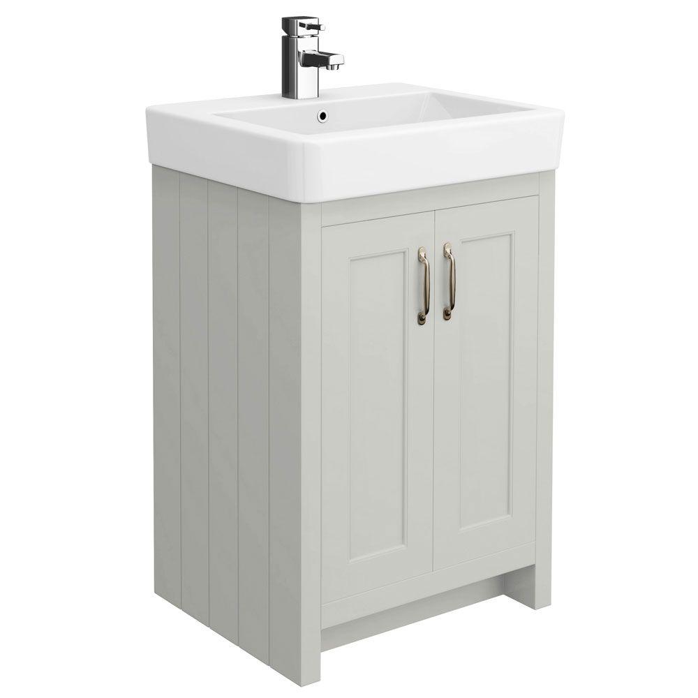 Chatsworth Traditional Grey Vanity - 560mm Wide   Gray vanity, Grey ...
