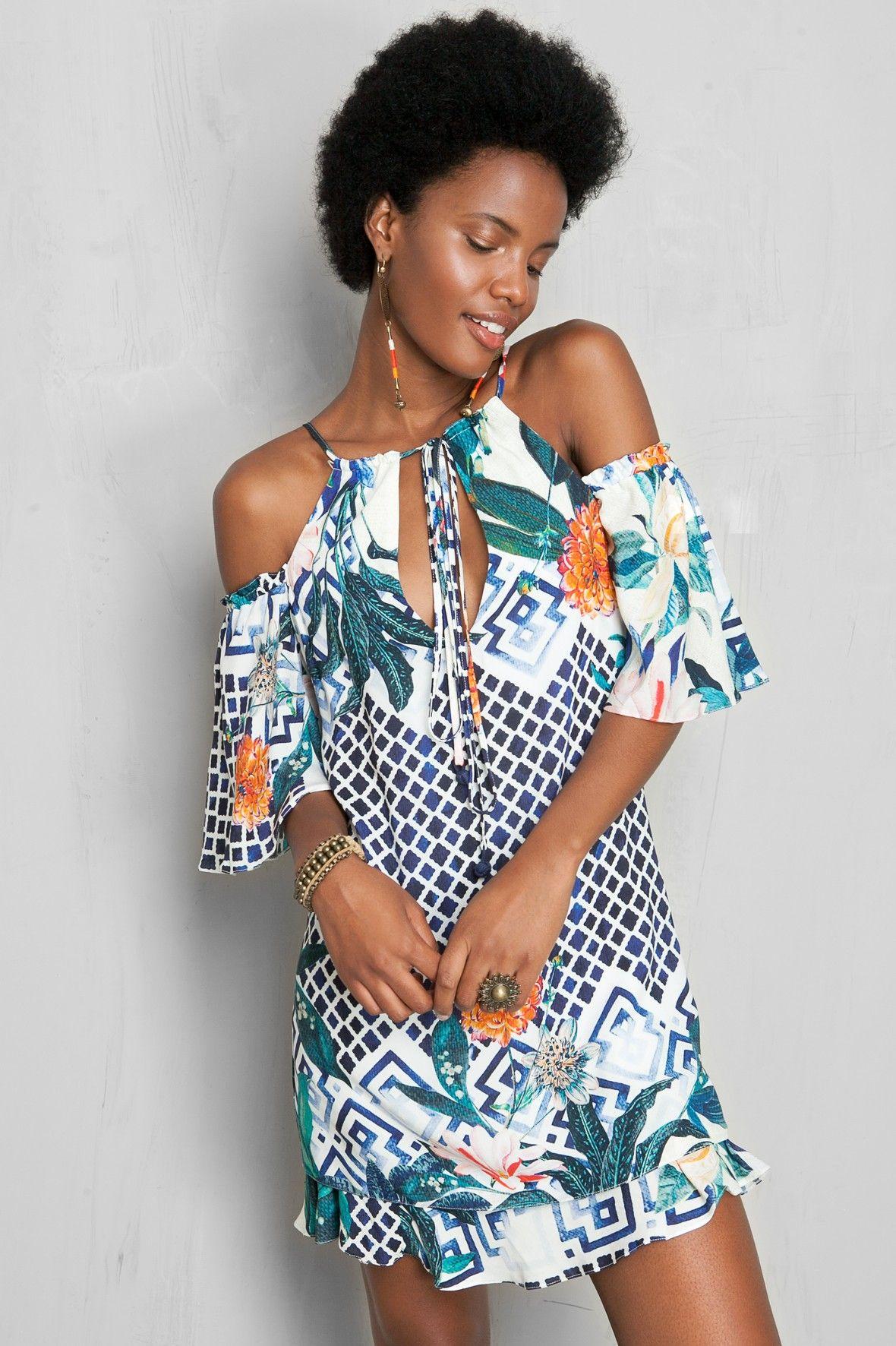 Vestido vazado estampado miki dress to dress to pinterest