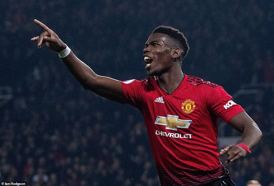 c9f358a7e Paul Pogba inspired Manchester United to victory as they swept aside  Huddersfield Town on Boxing Day