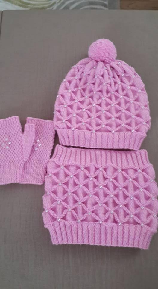 Kastırmalı Örgü Modeli ile Bere, Eldiven ve Boyunluk Yapılışı #bonnets