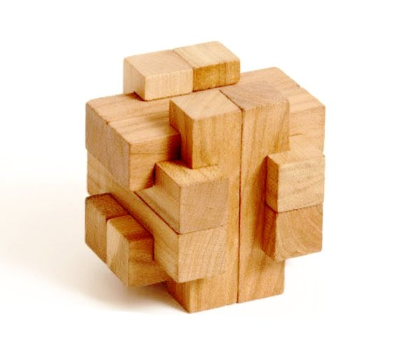 3d Puzzle Cross 12 Piece Burr 3d Wooden Brain Teaser Puzzle Burr