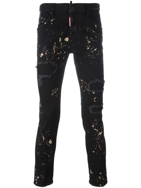 3cb34ff03d DSQUARED2 Skater paint splatter jeans.  dsquared2  cloth  진 ...