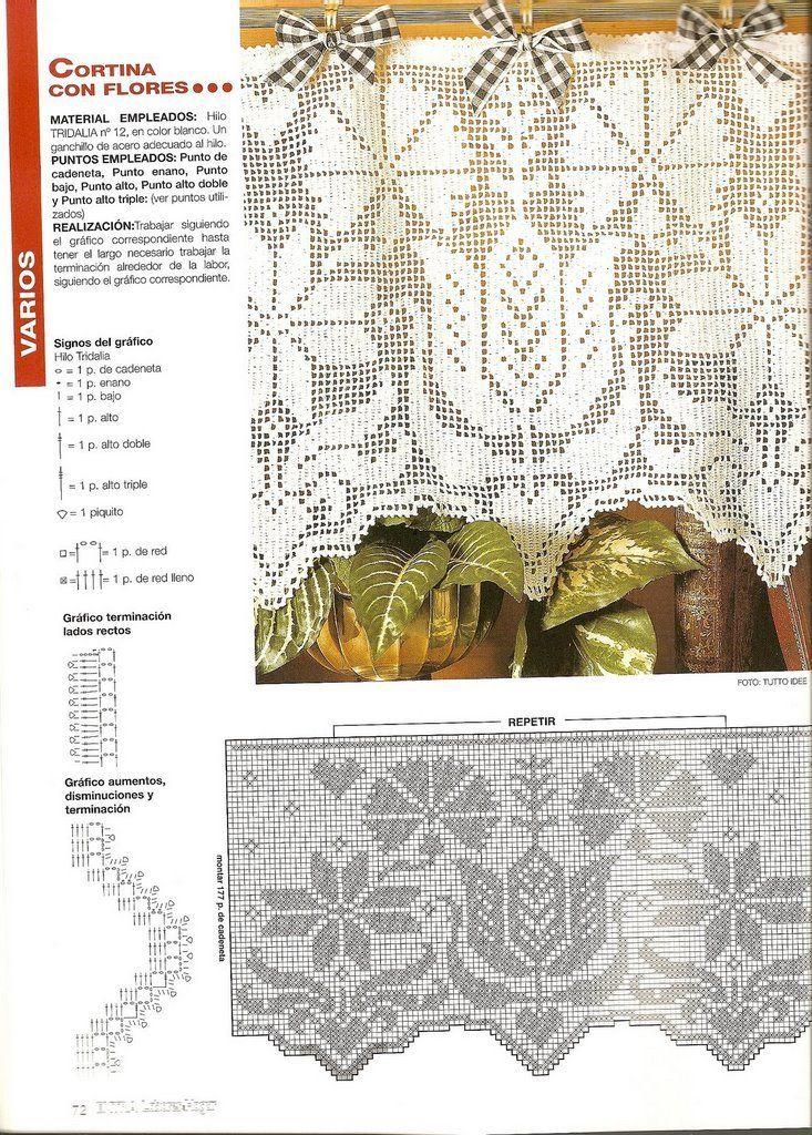 179.jpg] | Crochet | Pinterest | Cortinas, Punto de cruz y Patrones