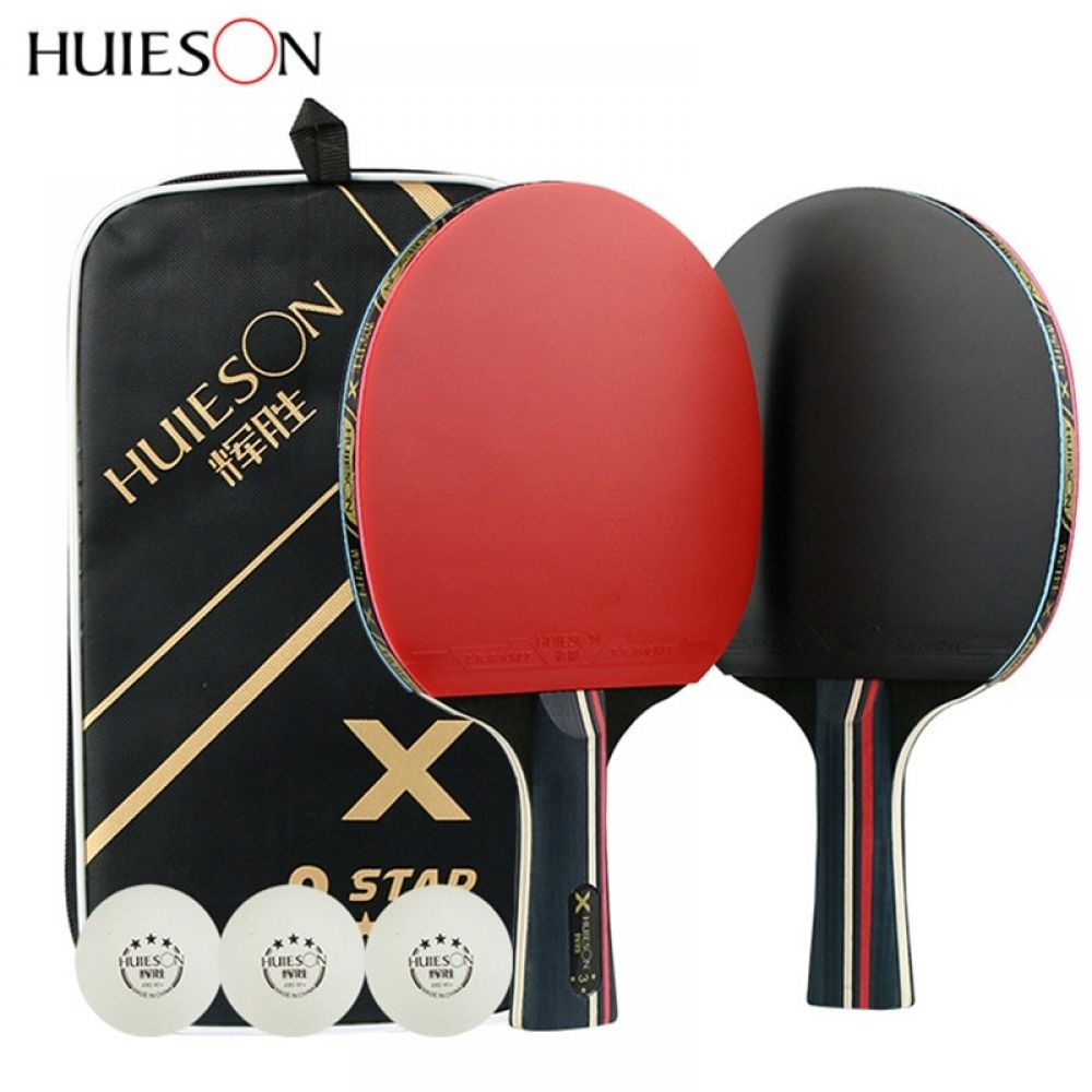 1pair Huieson Table Tennis Rackets Professional Rubber Carbon Pingpong Racket Short Long Handle Table Tennis Training With Balls Sports In 2020 Table Tennis Racket Table Tennis Table Tennis Bats