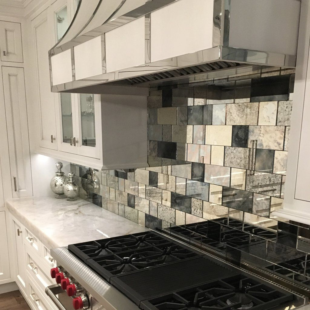 backsplash pinterest with strip tile installation is easy using our mirror tape or mirror adhesive create a unique kitchen backsplash or a feature wall with antique mirror ti doublecrazyfo Image collections