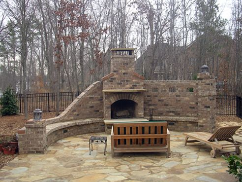 Nice stone patio and FP Outdoor DIY Home Ideas Pinterest