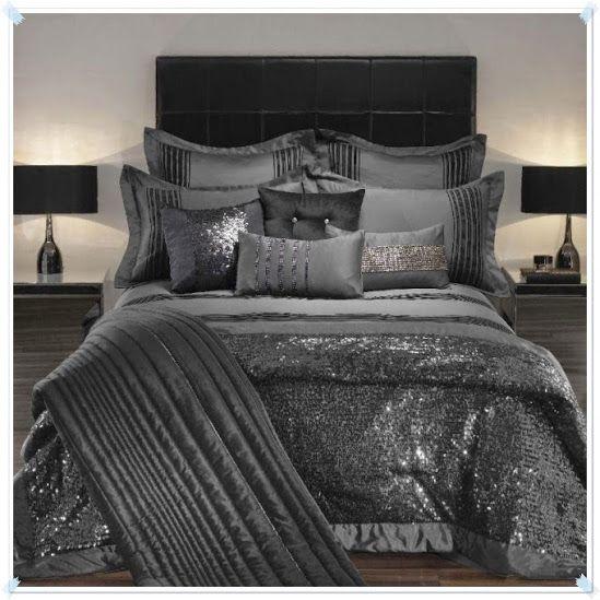 All Silver Shimmer Praphan Com Bedding Sets