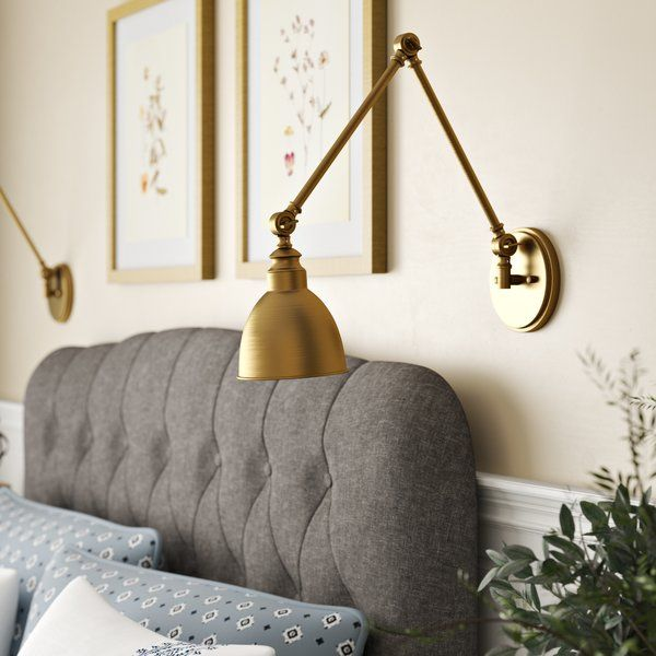 Hancock 1 Light Swing Arm Lamp With Images Swing Arm Lamp Wall Lamps Bedroom Room Lamp