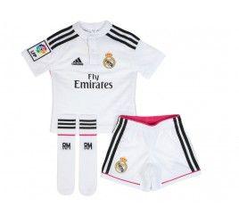 Conjunto niño adidas primera equipación Real Madrid 2015 recuerda todo ya disponible en www.decimas.es