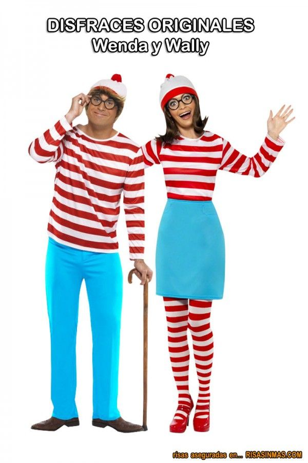 Disfraces originales wenda y wally halloween book day - Disfraces caseros adultos ...