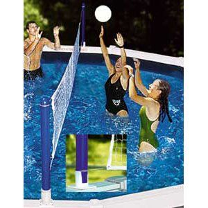 Above Ground Pool Volleyball Set In The Swim Pool Supplies Pool Volleyball Net Swimming Pool Games Above Ground Swimming Pools