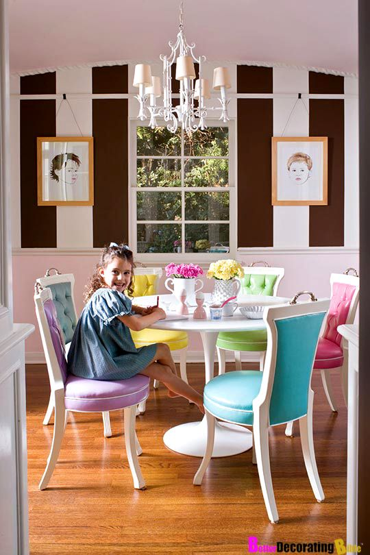 Interior Design, mix colors in a dinning area.