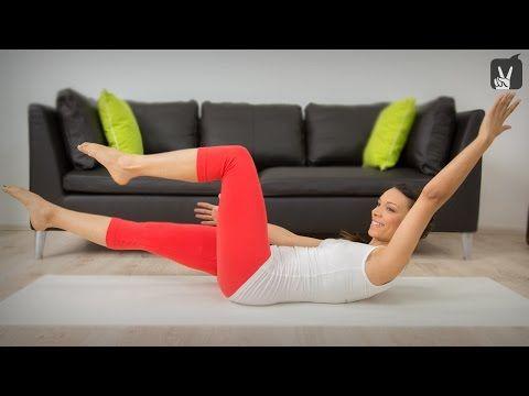 Pilates Bauchweg Quickie: Die besten Übungen für den straffen Bauch! - YouTube #pilatesworkoutvideos