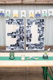 30th birthday decoration idea  scan children39s photos and develop black and white and  30th birthday decoration idea  scan childrens photos and develop black and white a...